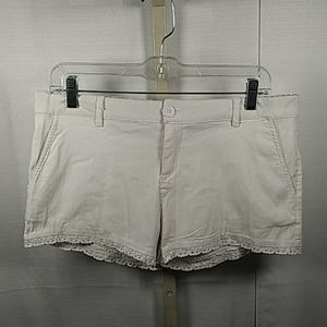 Ambiance Apparel white shorts L NEW 0425